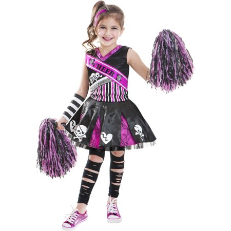 Halloween Costumes For Kidsgirl Walmart.Goth Cheerleader Child Halloween Costume
