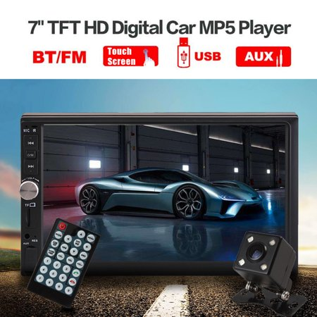 7'' HD TFT display screen 2 Din Stereo Car MP5 Player bluetooth Touchscreen Radio FM Aux With Backup Rear View Camera - image 4 of 10
