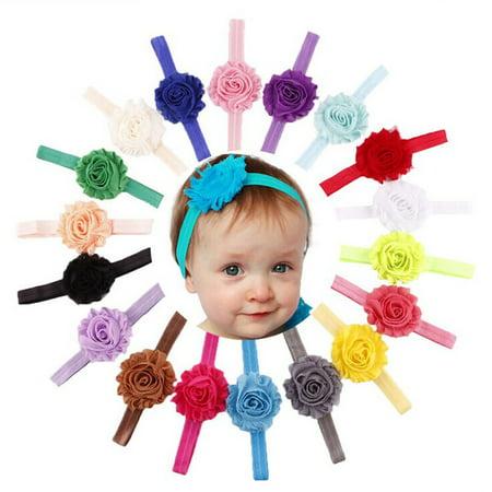 18PCS Babys Girls Elastic Shabby Flower Headband Photography Headbands -  Walmart.com 8a238ce9279