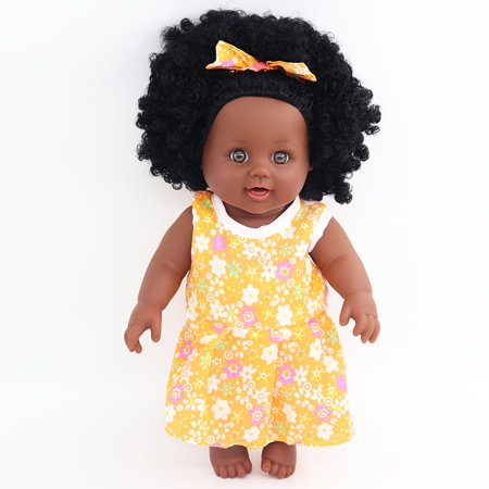 Cute Baby Black Girl Doll With Curly Hair For Baby Toddler Boy Girls Gifts
