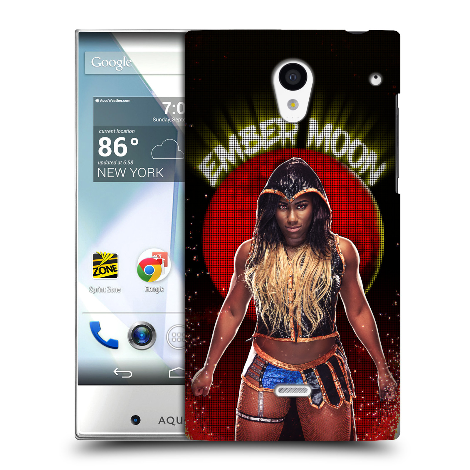 OFFICIAL WWE EMBER MOON HARD BACK CASE FOR SHARP PHONES
