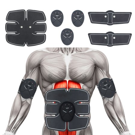 Muscle Toner Abdominal Toning Belt EMS ABS Trainer Wireless Body Gym Workout Home Office