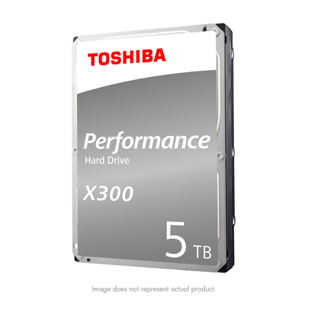 Toshiba X300 5TB Performance & Gaming Internal Hard Drive 7200 RPM SATA 6Gb/s 128 MB Cache 3.5 inch - HDWE150XZSTA (7 200 Rpm Cache)