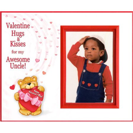 Hugs & Kisses for My Awesome Uncle Valentine Picture Frame Gift