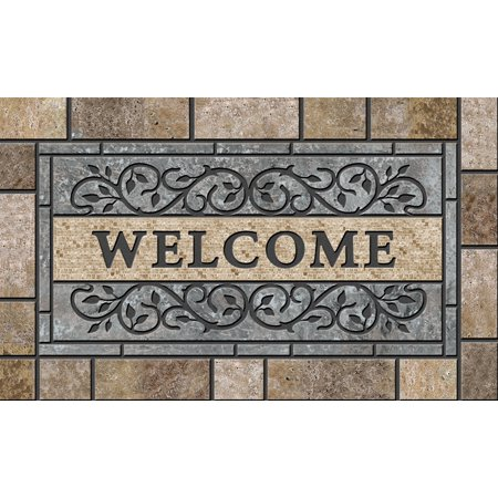 Better Homes & Gardens Masterpiece Gray Stone Welcome Mat, 1 Each