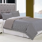 Simple Luxury Keystone 3 Piece 100pct Egyptian-Quality Cotton Reversible Duvet Cover Set