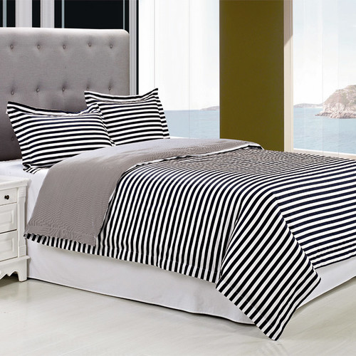 Simple Luxury Keystone 3 Piece Reversible Duvet Cover Set