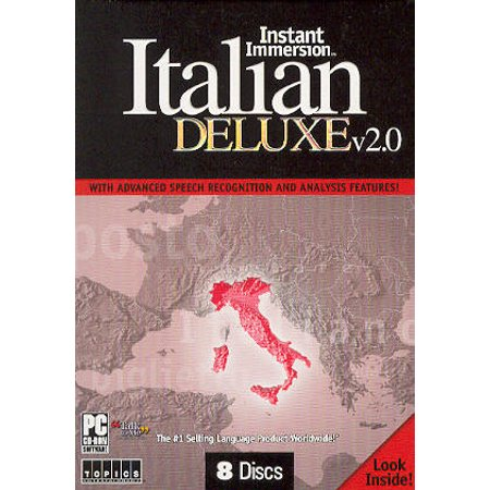 Instant Immersion Italian Language 2 0 Deluxe Language 8 Cd   Audio