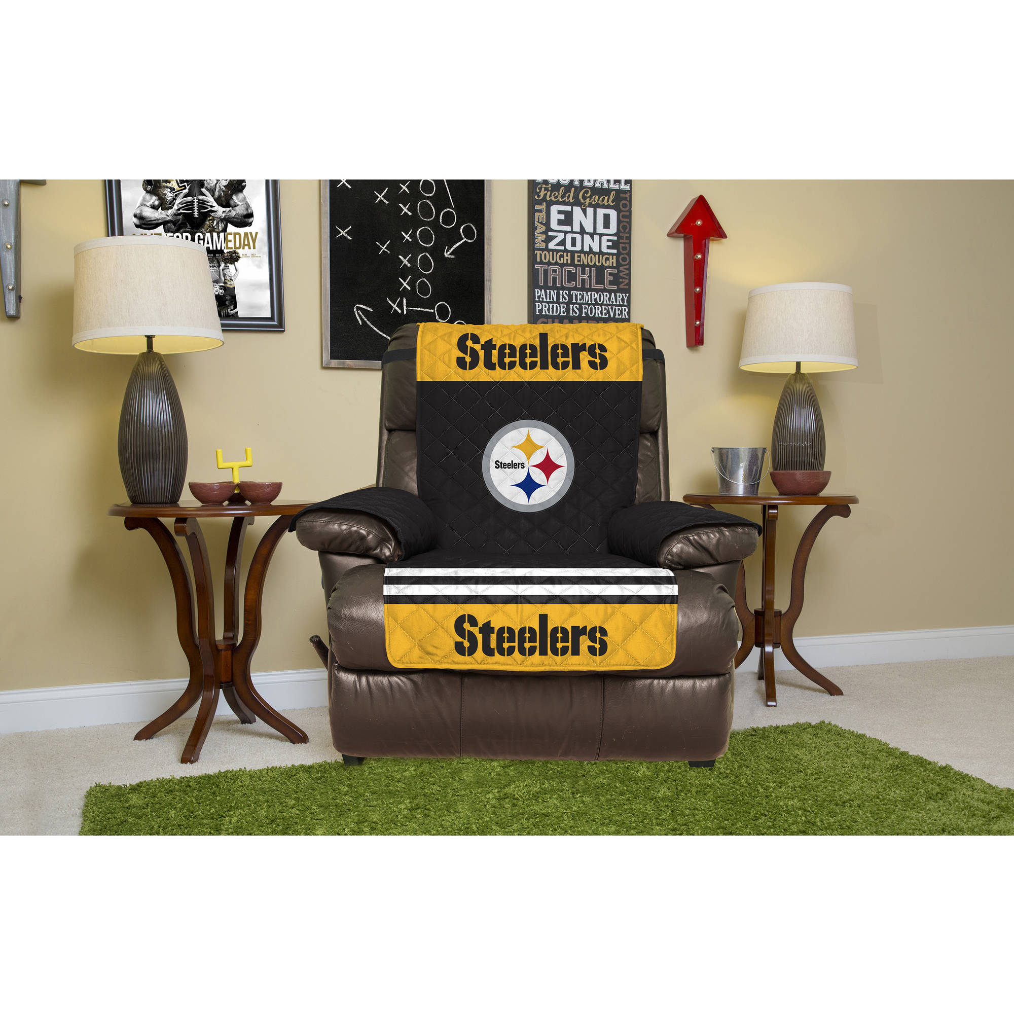 NFL Licensed Furniture Protector, Recliner, Pittsburgh Steelers