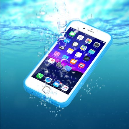 newest bf779 9abcf Water-Resistant Hybrid Full Cover Case For iPhone 6 Plus/6S Plus (Blue)