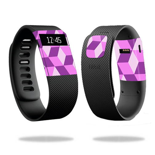 Skin Decal Wrap for Fitbit Charge cover skins sticker watch Pink Geo