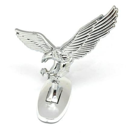3D Emblem Car Logo Front Hood Ornament Car Cover Chrome Eagle Badge for Auto (Hood Ornament Emblem)