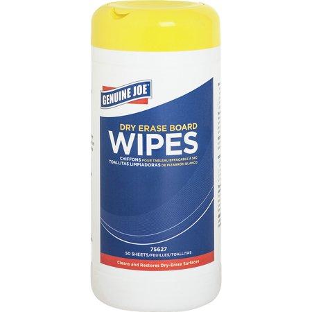 Genuine Joe, GJO75627, Dry Erase Board Cleaning Wipes, 1 / Each, White