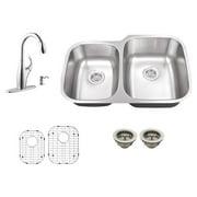 Schon SC265710N Double Basin Undermount Kitchen Sink Set