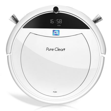 Pyle Smart Robot Vacuum Cleaner with Remote Control Navigation, Mop And Sweep Cleaning Ability PUCRC105