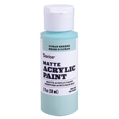Add brilliant color to your next work of art with this 2-ounce bottle of matte acrylic paint. The ocean breeze color is ideal for creating beach (Ideal Matte)