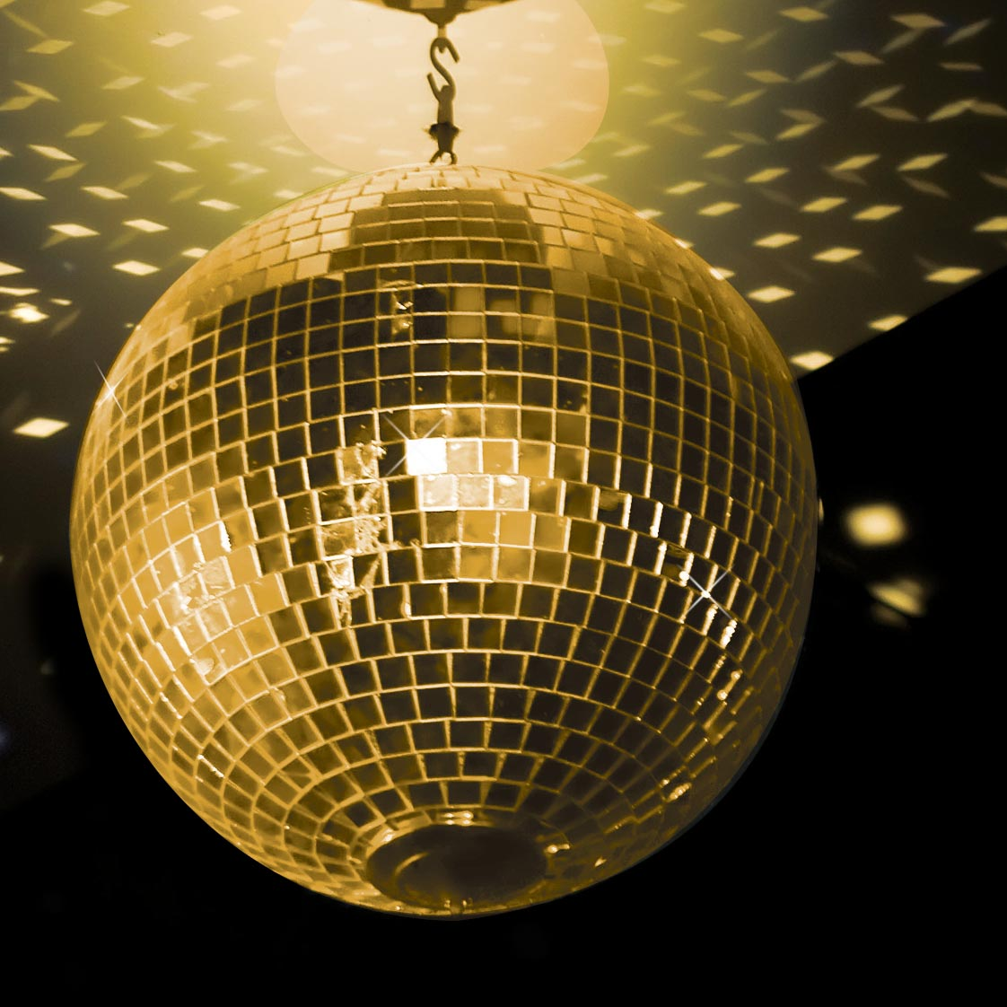 Gold Disco Mirror Ball