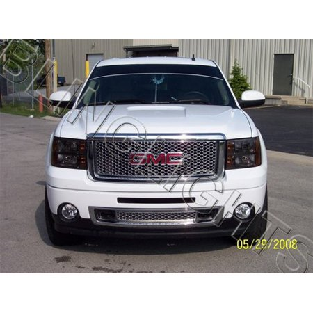 Headlamp Overlays Rings (New 2008 2009 2010 2011 2012 GMC Sierra Tinted Smoked Protection Overlays Film for Headlamps)