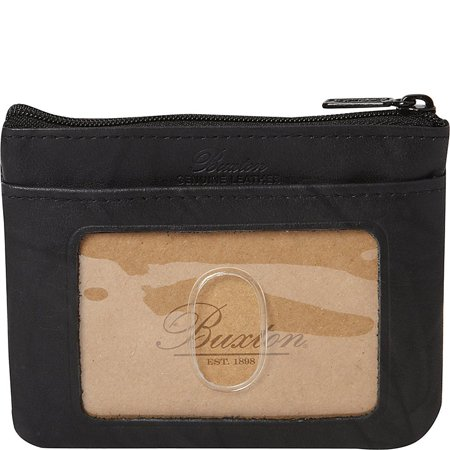 Buxton Womens Leather Heiress Pik-me-up Framed Id Coin, Credit Card Case Holder Wallet , Change Purse