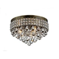 Melly 3-light Antique 16-inch Crystal Chandelier