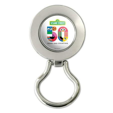 Sesame Street 50th Anniversary Logo Magnetic Metal Eyeglass ID Badge Holder
