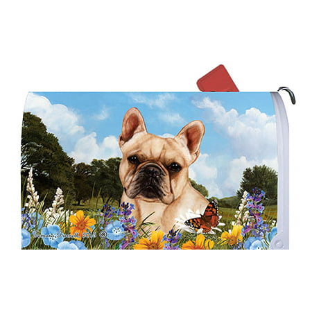 French Bulldog Cream - Best of Breed Summer Flowers Dog Breed Mail Box