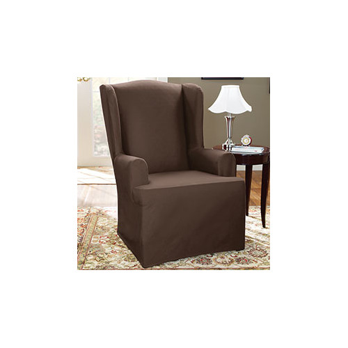 Sure Fit Wing Chair T Cushion Skited Slipcover