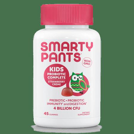 SmartyPants Kids Probiotic Complete Gummies, Strawberry Creme, 45