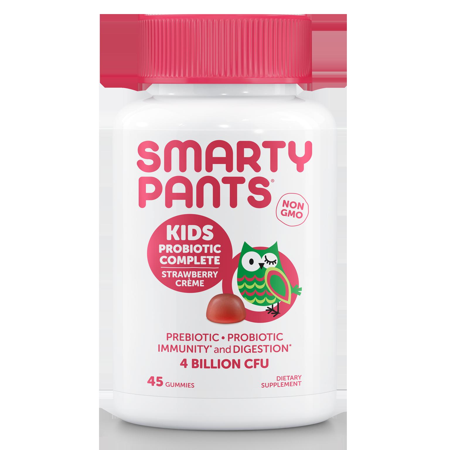 SmartyPants Kids Probiotic Complete Gummies, Strawberry Creme, 45 ct