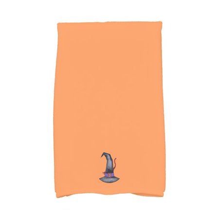 The Holiday Aisle Maser Cat Behind the Hat Halloween Hand Towel (Halloween Hand Towels)