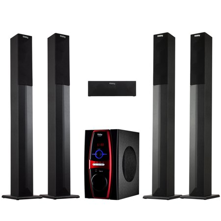 Frisby FS-6600BT 5.1 Surround Sound Home Theater Tower Speaker System with Bluetooth USB/SD & Remote Control 5.1 Surround Sound Usb