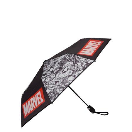 "Marvel ComicsMarvel Logo and Avengers Comic Characters 42"" Auto-Open Umbrella"