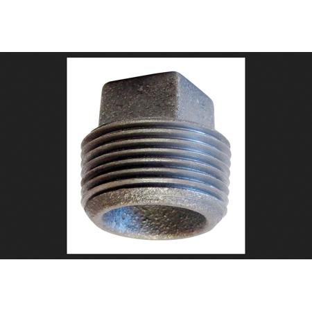 Anvil 3-1/2 in. MPT Cast Iron Cored Square Head Plug