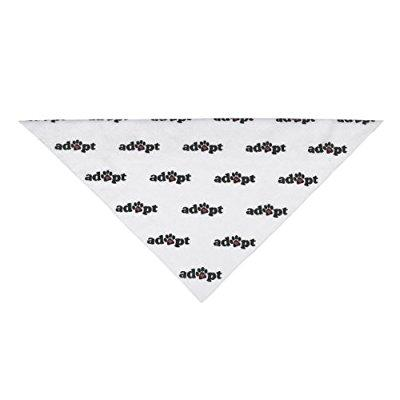 aria polyester/cotton blend adopt dog bandana, 22-inch, black