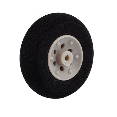 Black Ultralight Rubber Sponge Wheel 30mm x 10mm for 2mm Shaft Dia RC