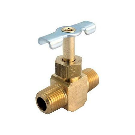 JMF 4506572 Brass Needle Valve Lead Free, 1/4
