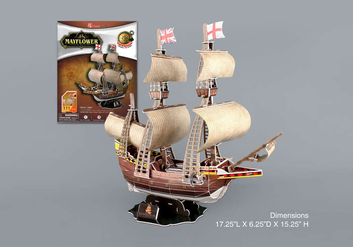 Mayflower 3D Puzzle 111 Pieces by