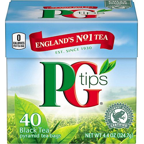 PG Tips Black Tea Pyramid Bags, 40 ct