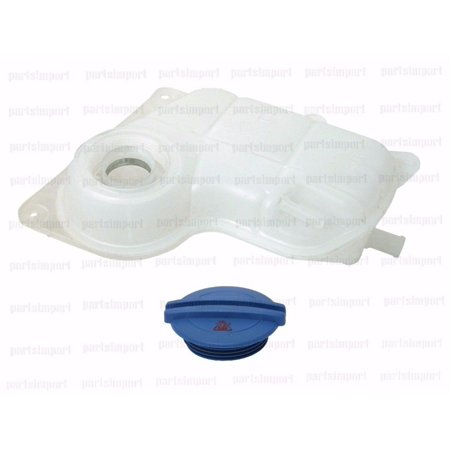 VW, Audi Engine Coolant Expansion Tank Reservoir with Level Sensor + Cap (Vw Level)