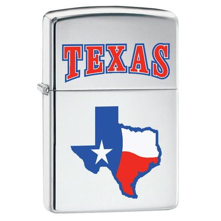 Zippo Lighter: State of Texas - High Polish Chrome ()