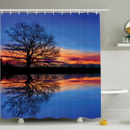 Ambesonne Nature Twilight Magical Shower Curtain Set