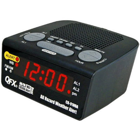 QFX All Hazard Weather Alert Radio, Black