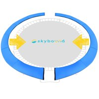 """SkyBound Universal Trampoline Safety Pad Spring Cover For 14FT Frame Fits up to 7"""" Springs - Two Pieces Design For Quick Install"""
