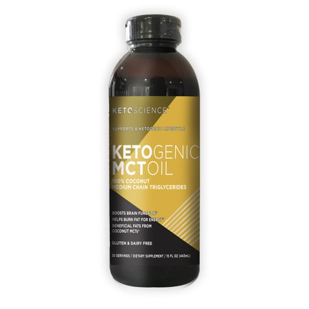 Keto Science Ketogenic MCT Oil Dietary Supplement, 15 fl. oz., 30