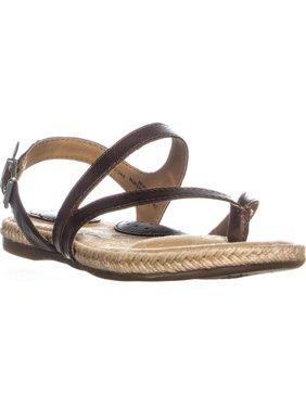 Womens B.O.C. Born Lucila Flat Thong Sandals, Dark Brown