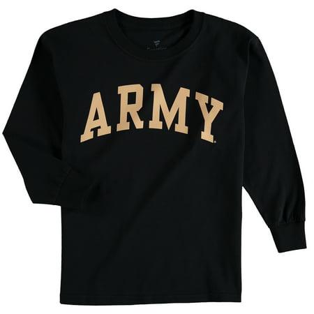 Army Black Knights Logo (Army Black Knights Fanatics Branded Youth Secondary Logo Basic Arch Long Sleeve T-Shirt - Black)