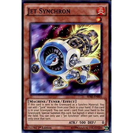 - Jet Synchron (SDSE-EN001) - Structure Deck: Synchron Extreme - 1st Edition - Super Rare, A single individual card from the Yu-Gi-Oh! trading and collectible card game (TCG/CCG). Ship from (Deco Jet)
