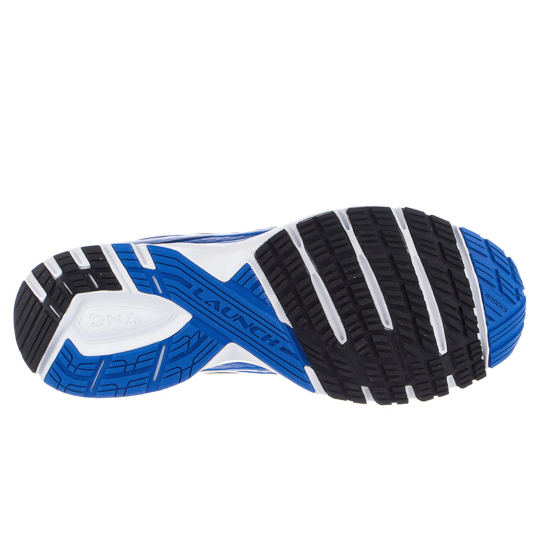 6e408e9e65e Brooks - Brooks Men s Launch 4 Electric Blue   Black White Ankle-High Mesh  Running Shoe - 12M - Walmart.com