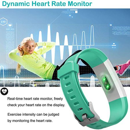 Fitness Tracker, Activity Trackers Health Exercise Watch with Heart Rate Monitor and Sleep Monitor, Smart Band Calorie Counter, Step Counter, Pedometer Walking for Kids Girls and Boys - image 4 of 9