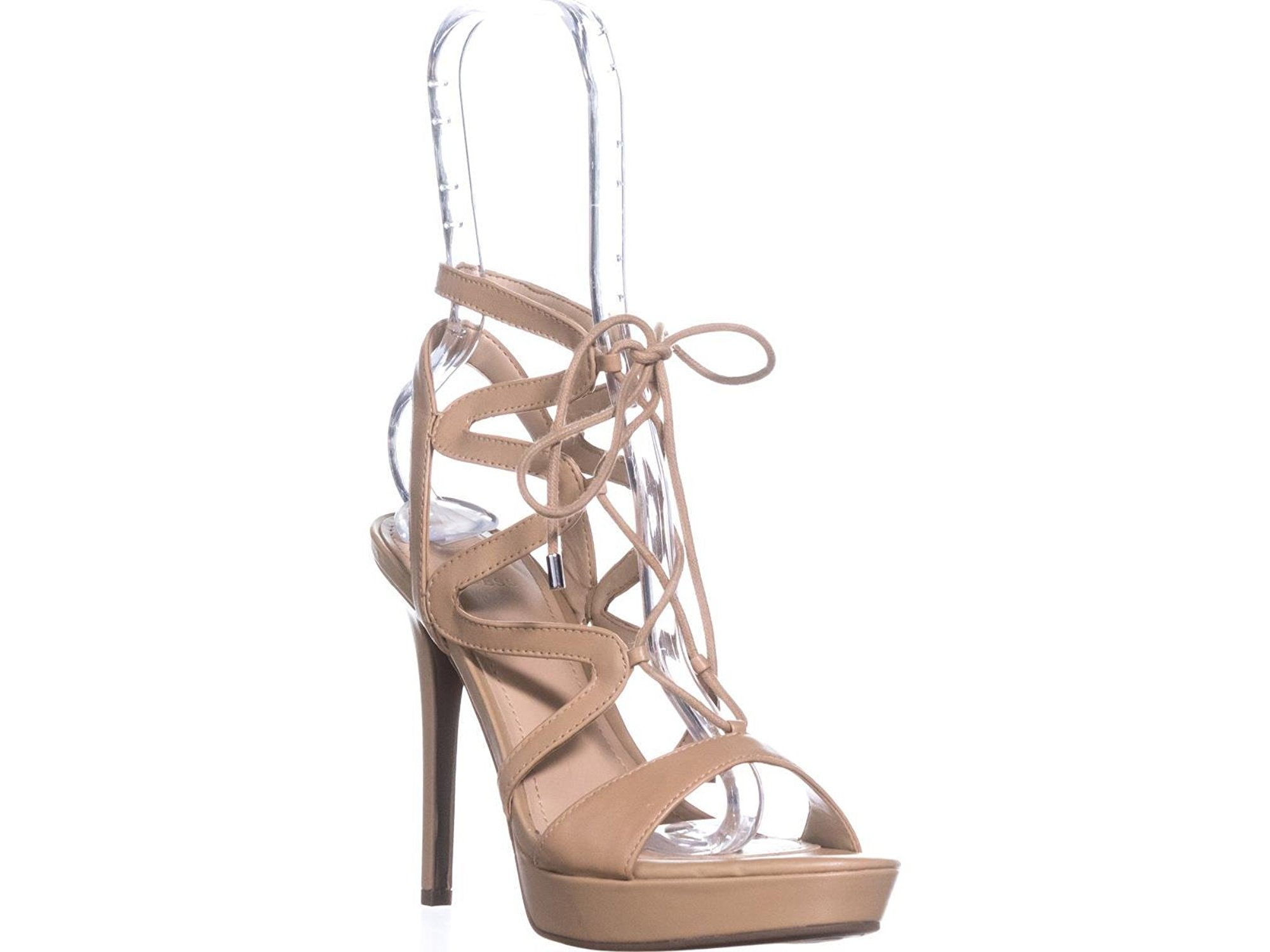 GUESS Damenschuhe Aurela Leder Open Toe Casual Casual Casual Strappy Sandales 385877
